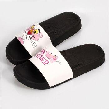 2019 Women Slippers Summer Cartoon sandal slides outdoor Pink Panther Non-slip bathroom home slippers beach female slippers cute 1
