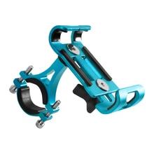 1Pc de aleación de aluminio bicicleta soporte para teléfono 360 grados giratorio bicicleta soporte para teléfono bastidores del manillar del soporte del teléfono