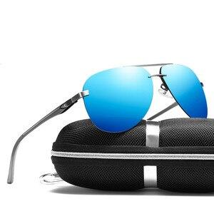 Image 3 - SHARK SEGEL Aluminium Magnesium Männer Sonnenbrille der Männer Polarisierte Beschichtung Spiegel Gläser Oculos Männlichen Brillen Zubehör Für Männer