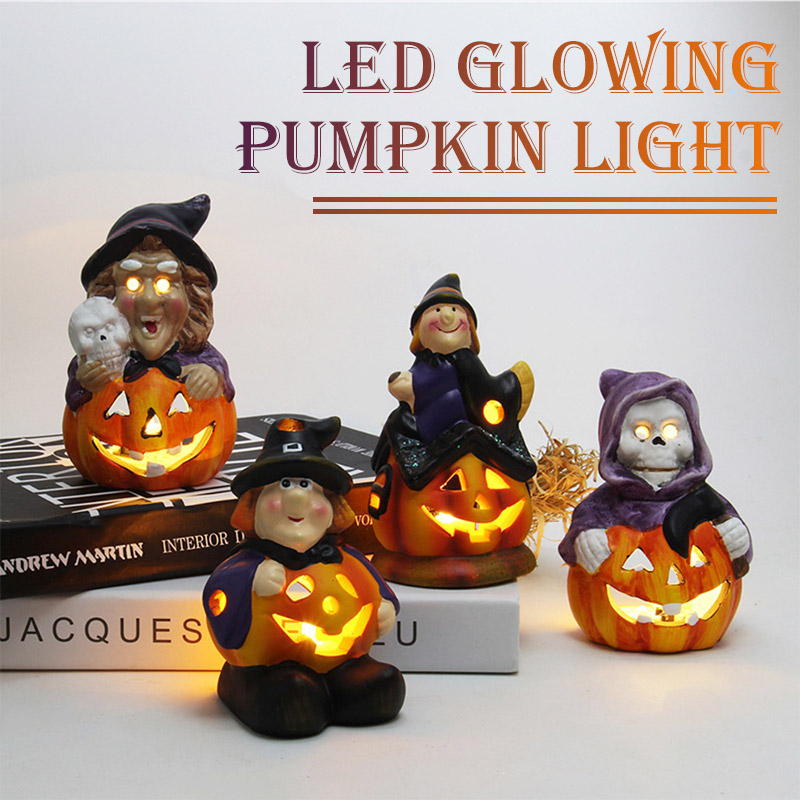 Party Lamp Electronic LED Night Light Witch Lamp Romantic Creative Home Flickering Battery Halloween Lantern Colorful Best Gift