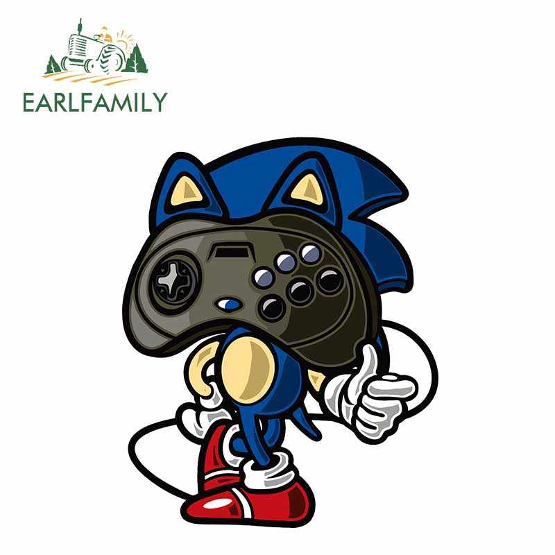 EARLFAMILY 13cm x 10.6cm Sonic The Hedgehog Gamepad Car Stickers Waterproof Vinyl Car Wrap Decal Game Sticker on Motorcycle Home