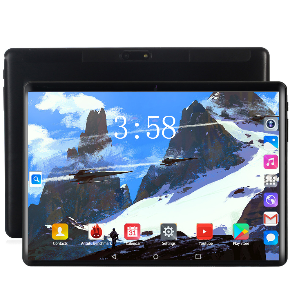2020 Global 10.1 Inch Tablet Pc Android 8.0 OS Octa Core 6GB+128GB 8MP Camera 3G/4G LET Dual SIM Card WIFI Bluetooth Tablets 10