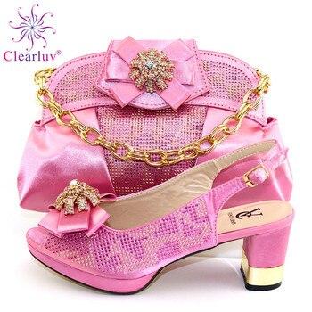 2020 нигерийская Свадебная сумка и набор обуви с итальянской обувью и сумкой в комплекте для вечерние в женской роскошной обуви