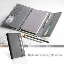 A5 bandaż blachy własne LOGO 6 otwór notes spiralny światło luksusowe biuro wysokie formalne klasy luźny segregator pamiętnik prezent