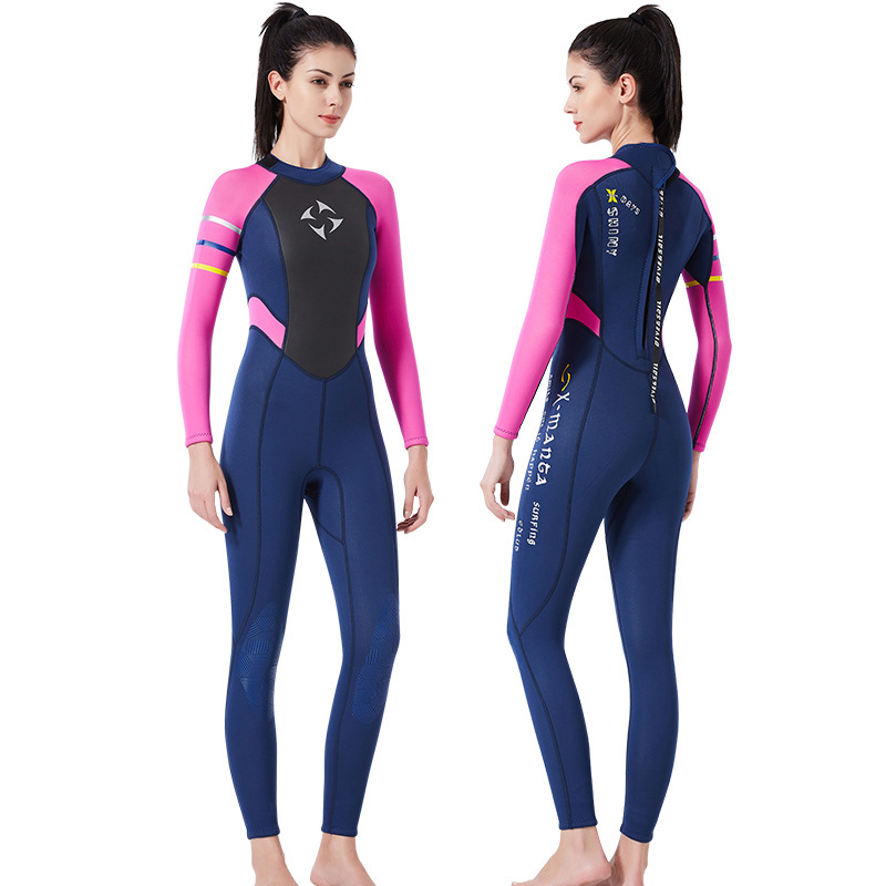 3mm dive suit Neoprene Women 39 s Swimming Wetsuit Jellyfish clothing Diving Snorkeling Swimming Water long sleeve piece fitted in Wetsuit from Sports amp Entertainment