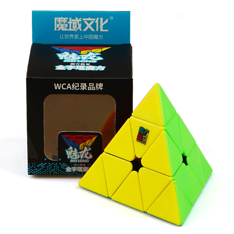 Moyu Meilogn 3x3 Cube 3x3x3 Pyramid Magic Cube 3Layers Stickerless WCA Brand Cube Puzzle Toys For Children Kids Gift