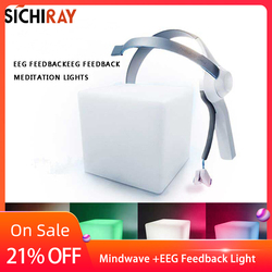 Helmet Meditation side lights wireless EEG equipment mindwave brain cubic attention training observation Meditation
