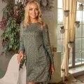 Atoff home dress P 643/4 (green/dark blue ruffle)