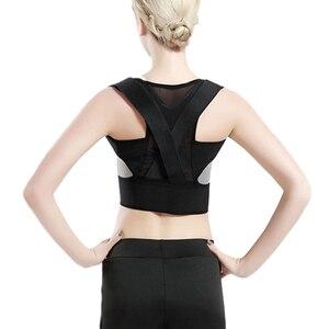 Women Adjustable Hump Posture Corrector Back Support Women Back Brace Shoulder Support Belt Sports Safety