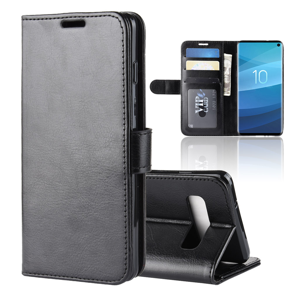 Case For Samsung Galaxy S10 Cover Wallet Card Stent Book Style Faux Leather Flip Black 10S SM G973F SC-03L SCV41 S 10 6.1\