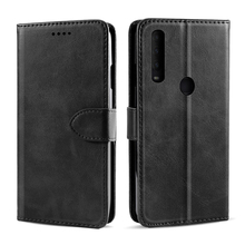 For Alcatel 1S 2020 Case Calf Grain PU Leather Flip Stand Wallet Cover with Card Slots and Magnetic Buckle For Alcatel 1S 2020 for apple ipod touch 7 case vintage calf grain leather flip stand shockproof wallet cover for ipod touch 5 6 case card holder
