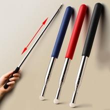 1 Piece 1M Length Stretch Stainless Steel Pen Ferule Teaching Travel Command Rod Teacher Felt Head Pointer