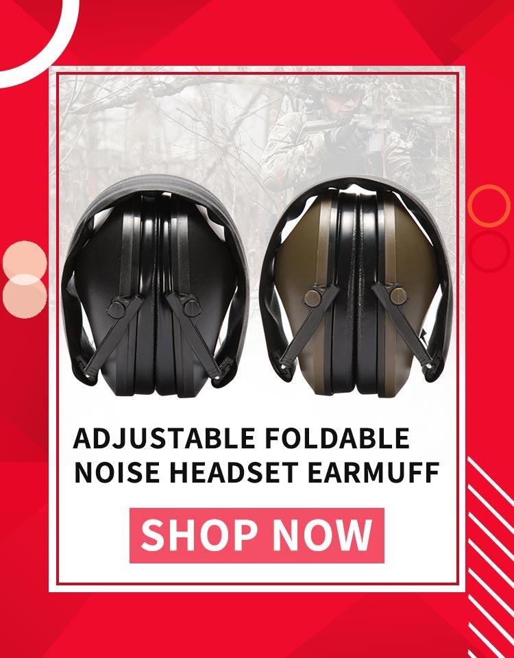 Ear Protector AuricularShooting Earmuff Adjustable Foldable Anti Noise Cancelling Earplugs Soft Padded Noise Canceling Headset