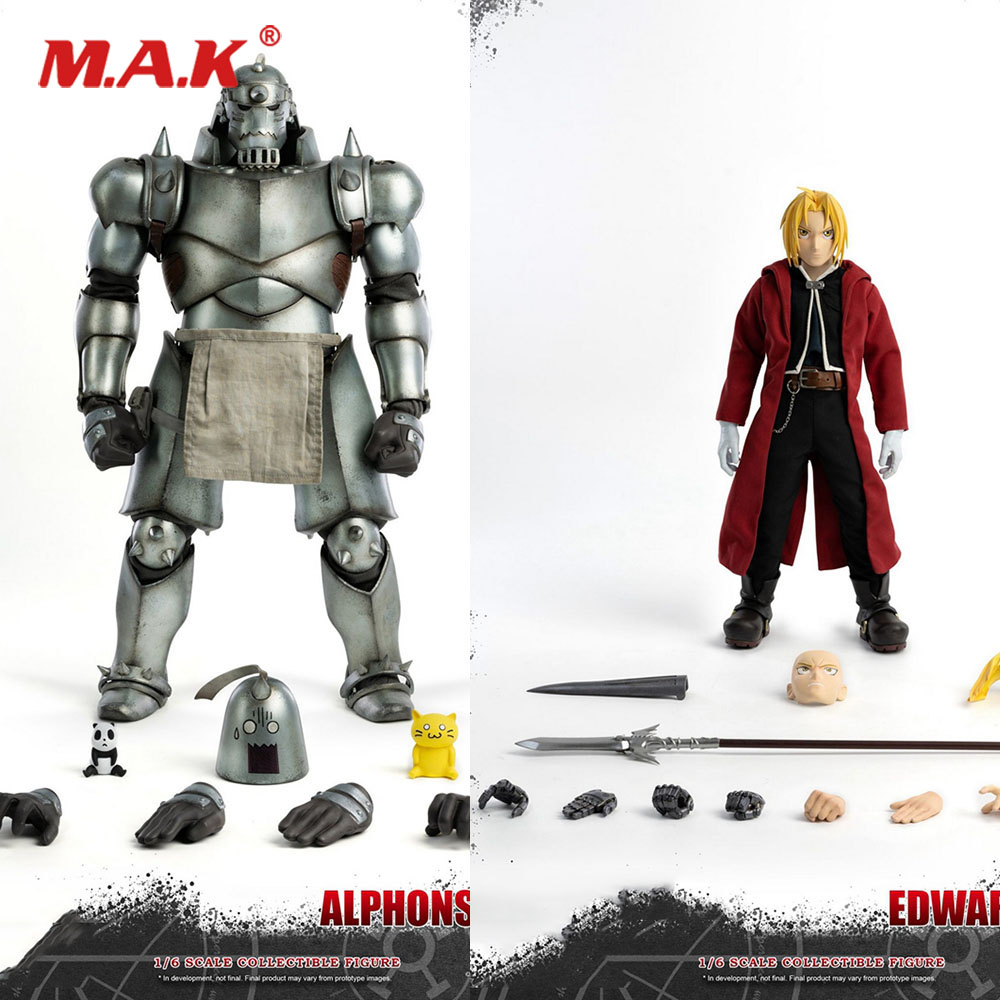 In Stock For Collection 1/6 Full Set ThreeZero 3Z0096TP Alphonse & Edward Elric Brotherhood Action Figure Model for Fans Gifts