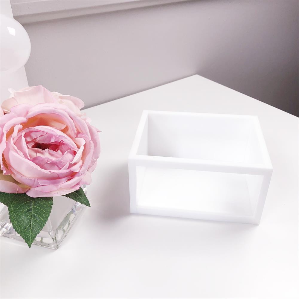 Акриловый держатель кистей для макияжа косметический Органайзер для макияжа аксессуары для кистей белый прозрачный туалетный столик для ванной комнаты - 5