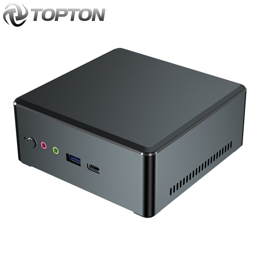 Toptonミニpc amd ryzen 7 2700U 5 3550hベガグラフィック2 * DDR4 M.2 nvmeゲームコンピュータwindows 10 3 × 4kタイプ-c HDMI2.0 dp ac無線lan