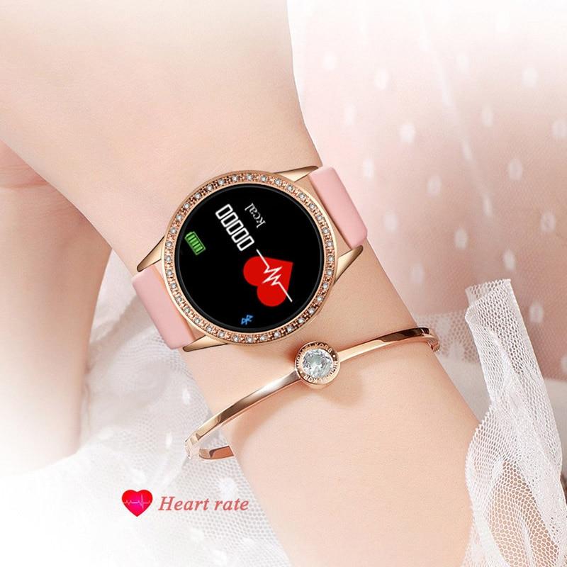 LIGE Ladies Smart Watch Women Blood Pressure Heart Rate Monitor Fitness tracker Sport Smart Band Alarm clock reminder Smartwatch 4