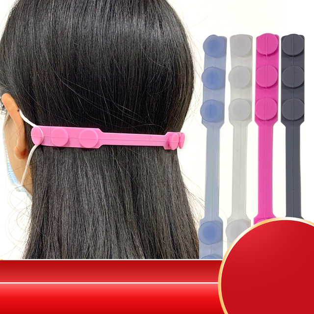 10pcs Adjustable Design Soft Silicone Anit Pain Ear Protection Buckle Hook Ear Protection for Adult Kids Face Mouth Mask
