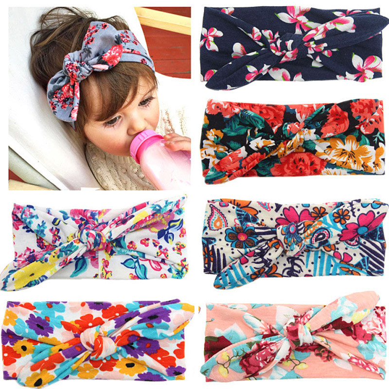 Colorful Boho Headband For Newborn Toddler Ribbon Elastic Baby Headdress Kids Hair Band Girl Bow Knot Accessories 0-4T