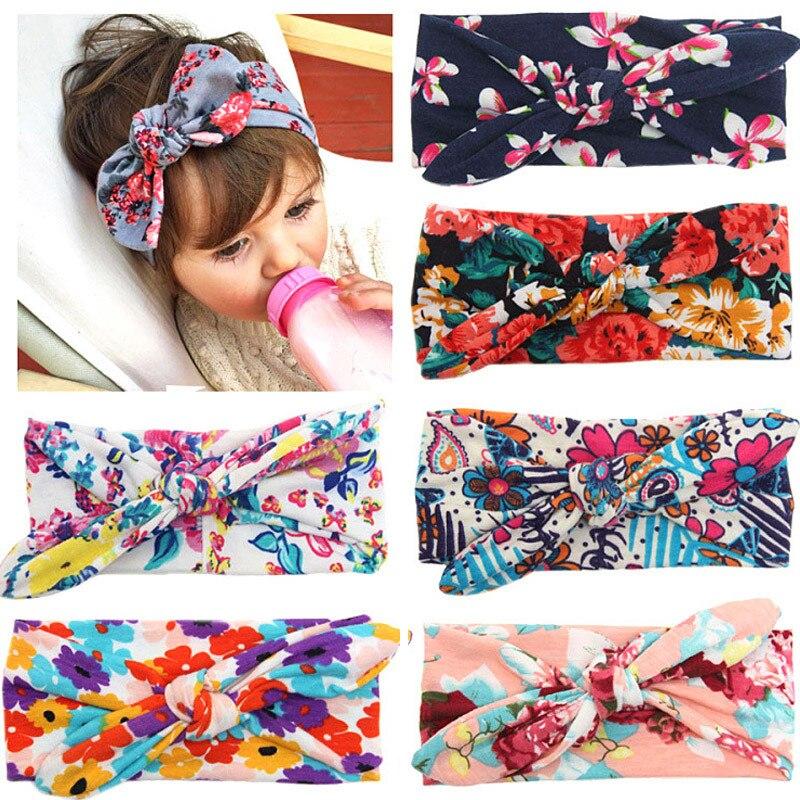 Colorful Boho Headband For Newborn Toddler Ribbon Elastic Baby Headdress Kids Hair Band Girl Bow Knot Accessories 0-4T