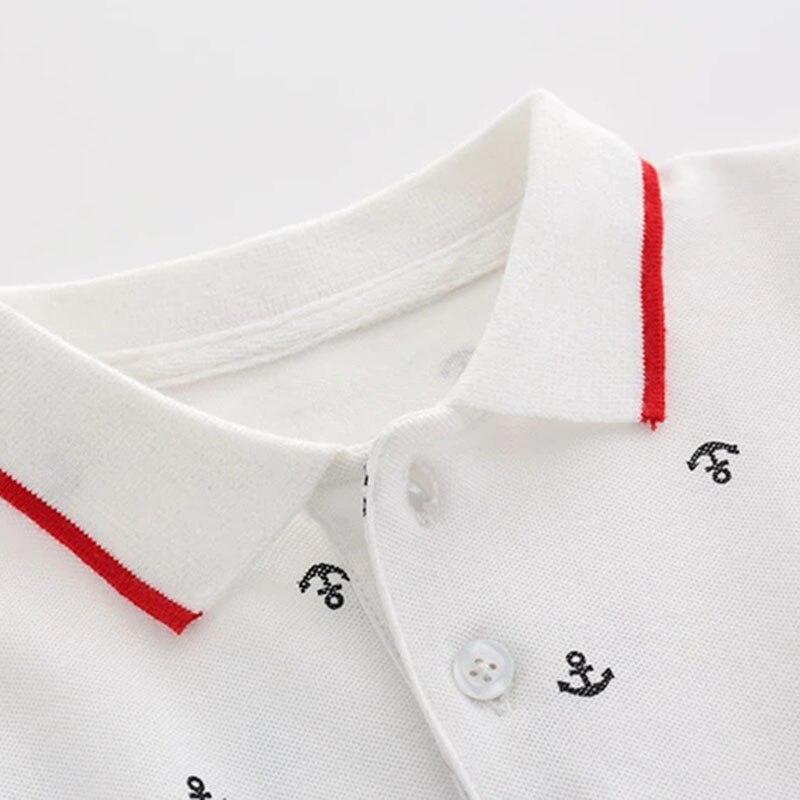 Костюм джентльменский хлопковый для мальчиков, комбинезон с принтом и белые шорты с поясом, комплект детской одежды, лето 5