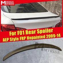 For BMW F01 Spoiler FRP Unpainted AEP Style Primer Black Rear Trunk Spoiler 7-series 740i 750i 750li 760i Spoiler Wings 2009-14 gas fuel brake footrest foot pedal plate pad trim for bmw 5 series f10 7 series e65 f01 f02 730li 740i li 750i li 760i at
