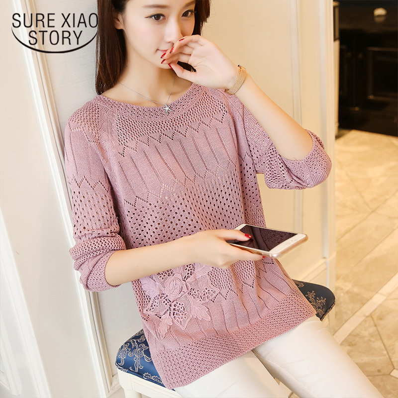 Office Lady O-Neck Regular Long Sleeve Pullovers Flat Knitted Korean Sweater Pull Femme Nouveaute 2019 Autumn 7012 50
