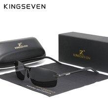 KINGSEVEN nouvelle mise à niveau de la mode hommes en aluminium lunettes de soleil polarisées sans monture conception Simple conduite lunettes de soleil marque hommes UV400