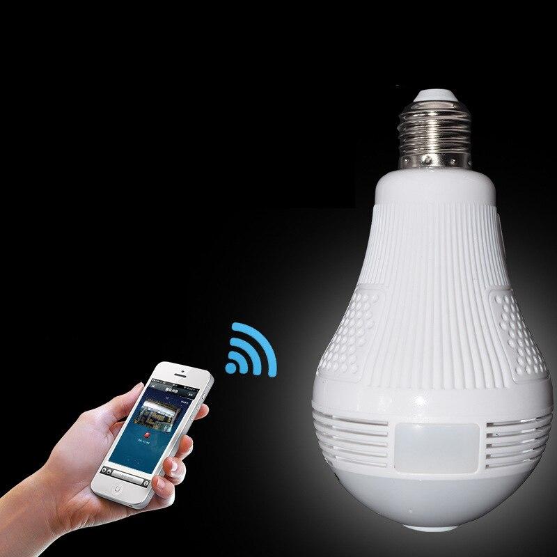 LED Lamp Light 960P Wireless Panoramic Home Security WiFi CCTV Fisheye LED Bulb Lamp IP Camera 360 Degree Home Security Burglar