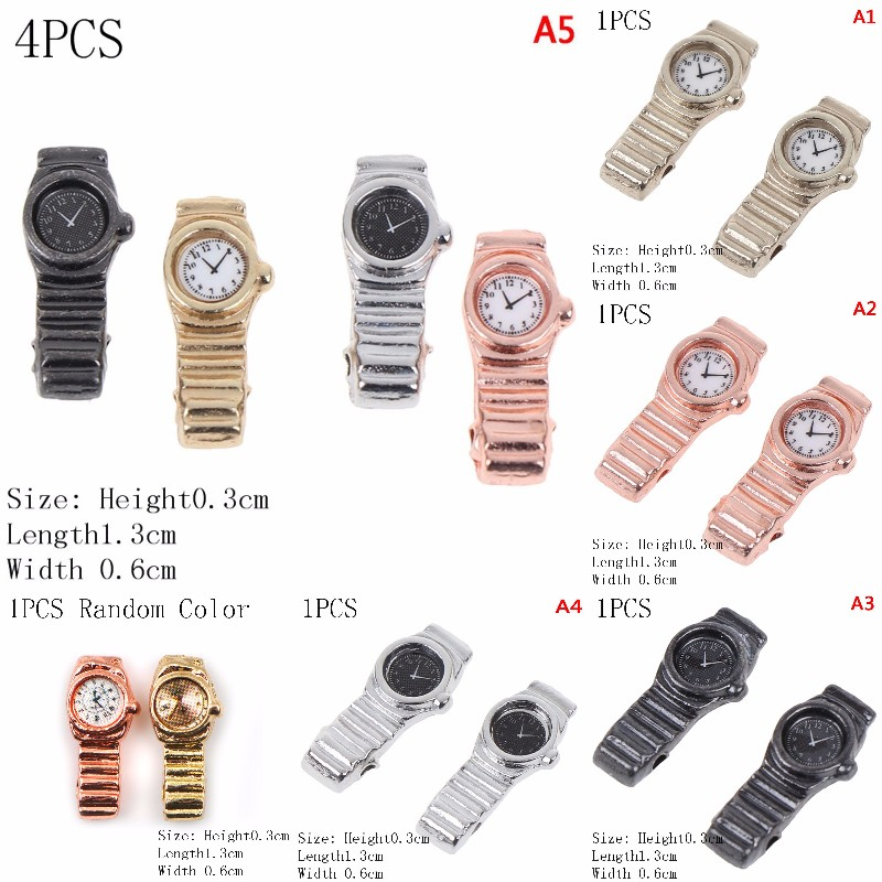 Multiple Colour 1:12 Scale Miniature Watch For Dollhouse Decor Accessories Mini Furniture Toy