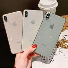 Shining Glitter Powder Fitted Case For  iphone xr case 7 8 6 x