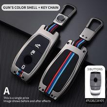 Car Key Case Cover Key Bag For Mercedes Benz A C E S Class W221 W177 W205 W213 Car Styling Holder Shell Keychain Accessories