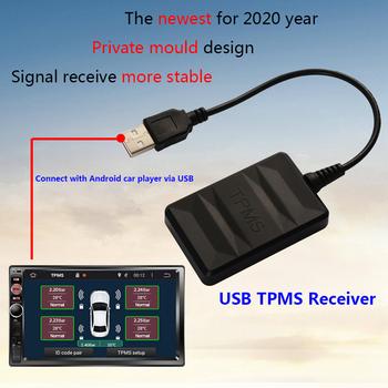 Smart Car TPMS USB bezprzewodowe monitorowanie temperatury w oponach systemy alarmowe w samochodzie ciśnienie w oponach z czujnikami tanie i dobre opinie KKMOON CN (pochodzenie) 16cm high quality 182 45g built-in CR2050 button cell 14cm Tire Pressure Monitor