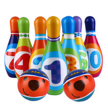 Ball-Kit Bowling Sports-Toy Plaything 1set PU Colorful Large Portable Children Solid