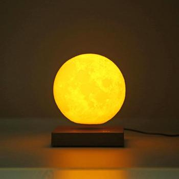 Magnetic Levitating 3D Moon Lamp 360 rotated Night Lamp Floating Romantic Light Home Decoration for Valentine's Day birthday gif