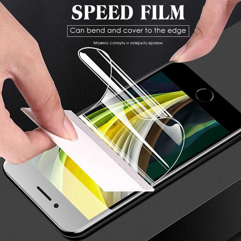 3 шт 1000D полное покрытие Гидрогелевая пленка для экрана протектор для iPhone SE 2020 мягкий Fim для iPhone 11 12 Pro Max XR XS X 7 8 Plus SE 2