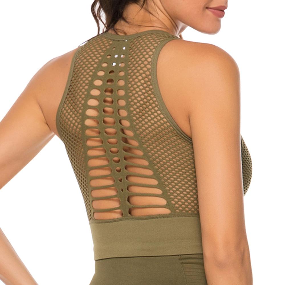 air sports bra - army green