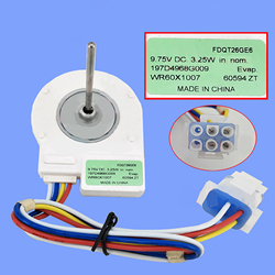 1PC Refrigerator Ventilation Fan Motor Reverse Rotary Motor FDQT26GE6 DC9.75V 3.25W fan freezer without temperature-sensing head