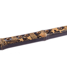 Flutes Woodwind Black Bamboo Chinese Yunnan Bawu G Key Pipe Music Instrument H58D