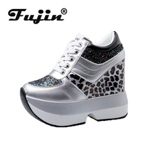 Fujin Casual High Platform Shoes Women Breathable Height Increasing Shoes Thick Sole Trainers Sneakers Women Deportivas Mujer стоимость