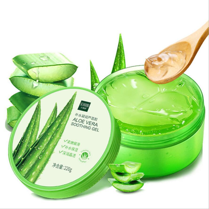 Hot Sale 220g Aloe Vera Gel 92% Natural Face Creams Moisturizer Acne Treatment Gel For Skin Repairing Natural Beauty Products