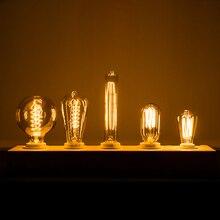 רטרו נימה מנורת E27 E14 אדיסון הנורה 60W 40W 25W ומביליה AC240V חיצוני קישוט תאורה למסיבה בר מסעדה חנות