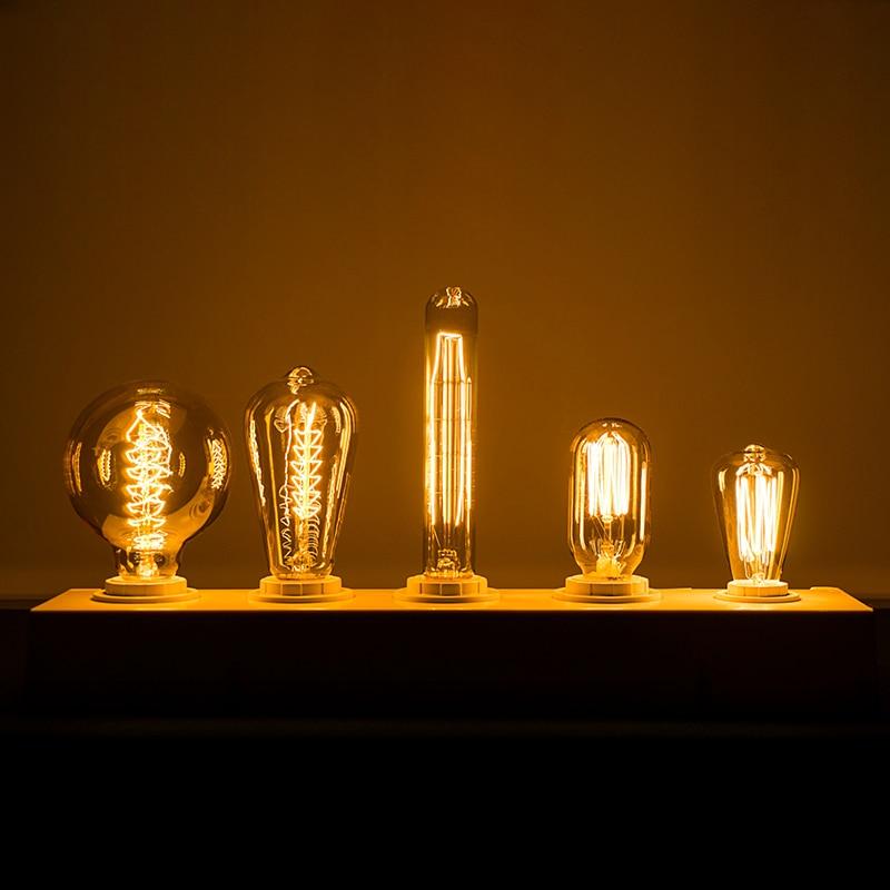 Retro Filament Lamp E27 E14 Edison Bulb 60W 40W 25W Bombilla AC240V Outdoor Decoration Lighting For Party Bar Restaurant Shop