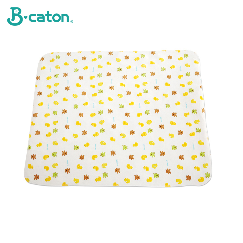 Cotton Flannel Baby Mat Changing Pad Cover Baby Urine Changing Pad Cartoon Reusable Baby Bedding Waterproof Pad Double Sided Use
