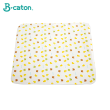 Cotton Flannel Baby Mat Changing Pad Cover Urine Cartoon Reusable Bedding Waterproof Double Sided Use