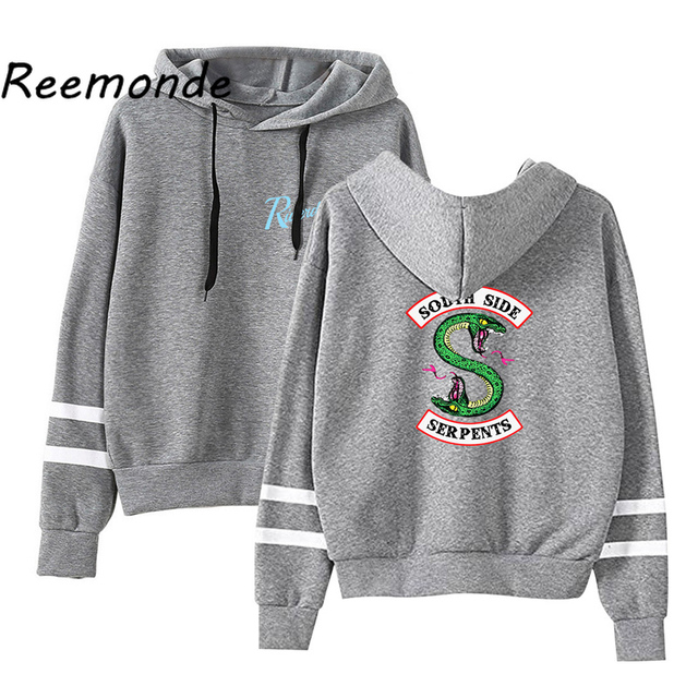 Riverdale Southside Serpents Hoodies Sweatshirts MenS Women South Side Serpents Hoodie Long Sleeve Striped Pullover Top Oversize 5