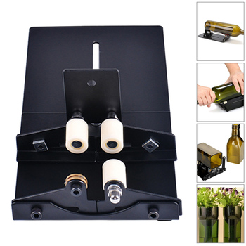 Glass Bottle Cutter Cutting Tool Wine Beer Glass Sculptures Cutter for DIY Glass Cutting Machine Metal Pad Bottle Holder pair of fashionable beer bottle and wine glass shape alloy cufflinks for men
