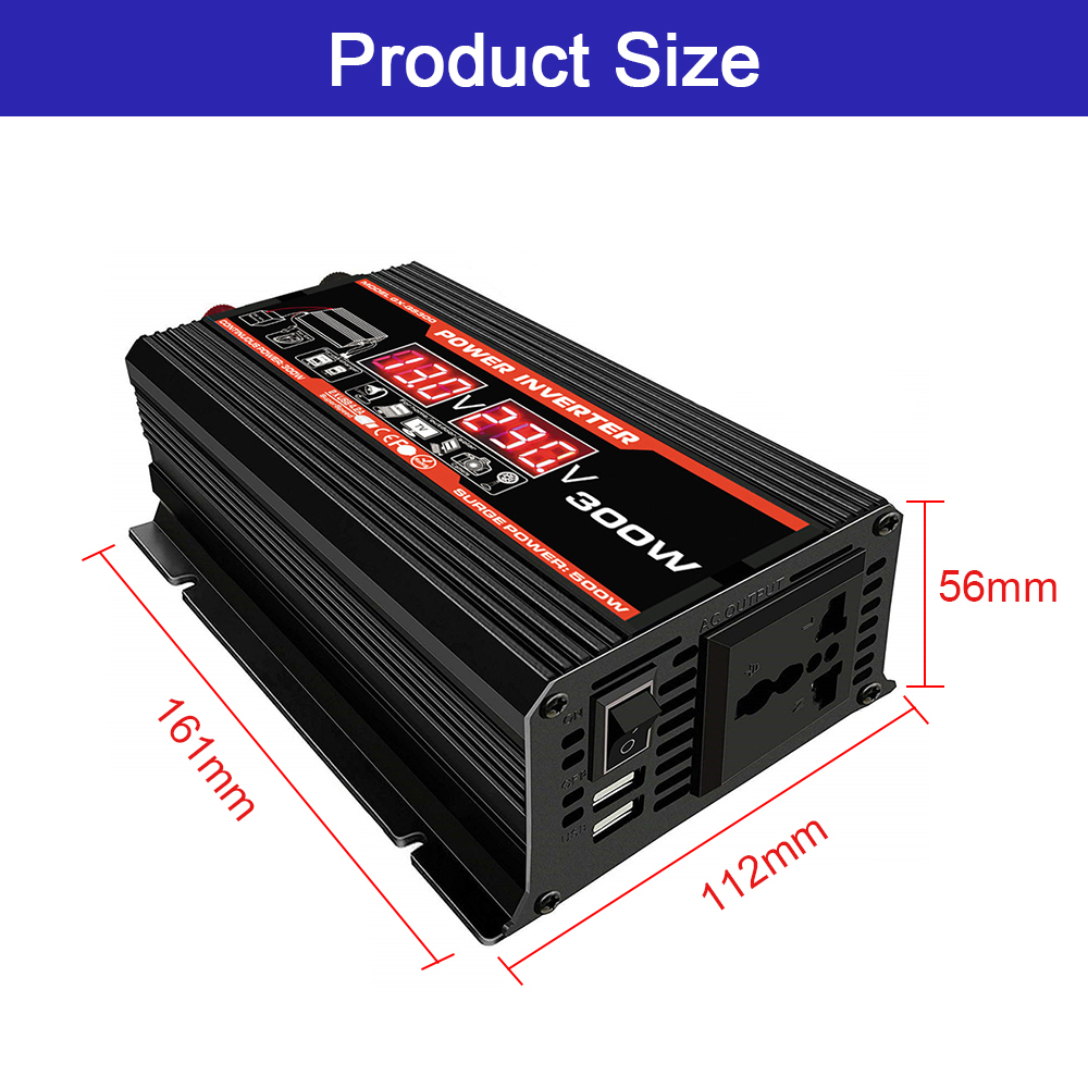 lowest price New 4000W Car Power Inverter Converter DC 12V to AC 220V 110V with LED Voltage Display Dual USB Charger Ports Adapter 4 2A
