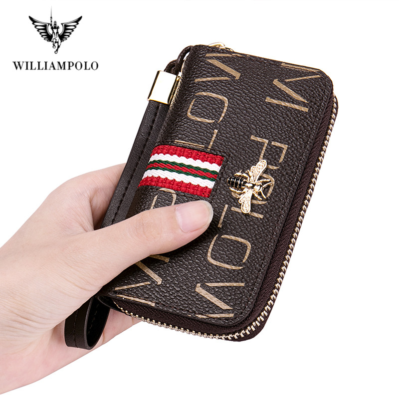 WilliamPolo Key case women's multifunctional key chain women coin purse large capacity universal car key storage bag