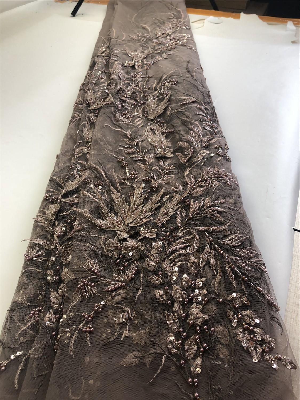 Haute qualité français Net mariage dentelle tissu avec pierre nouveau Nigeria perlé Guipure Tulle couture robe de soirée H0142